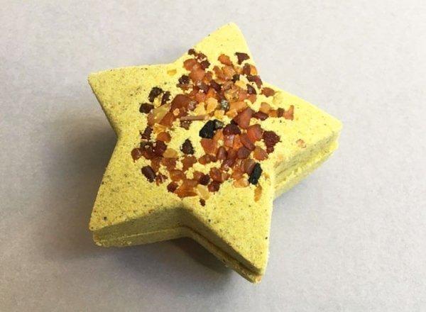 Amber Bath Bomb Star