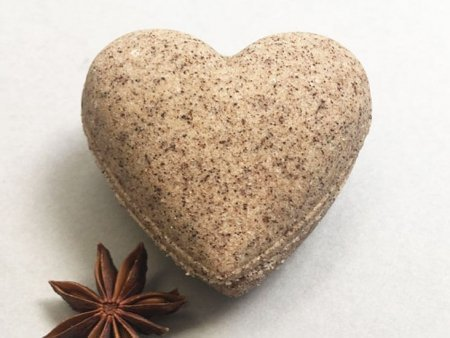 Cinnamon Coffee Bath Bomb Heart