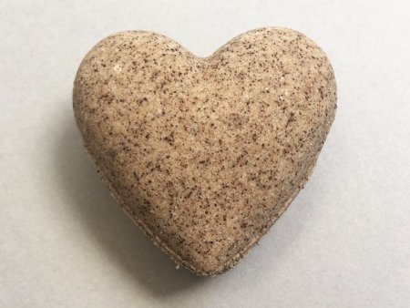 Coffee Bath Bomb Heart