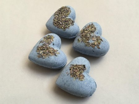 Lavender Bath Bombs Heart