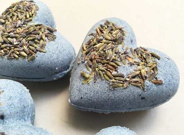 Lavender Bath Bombs Heart Zoom