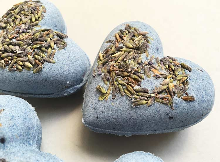 Lavender Bath Bombs Heart Zoom
