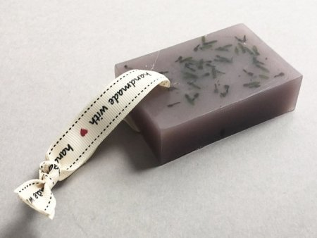 Lavender Soap Block with Ribbon