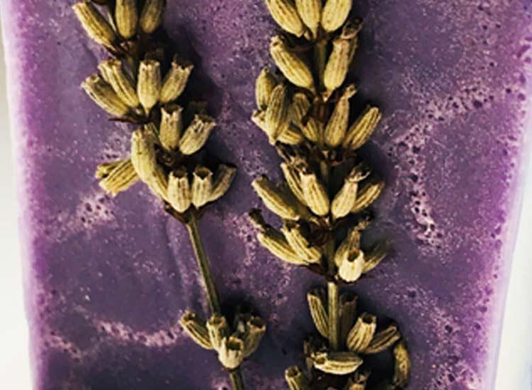 Lavender Soap Block Zoom