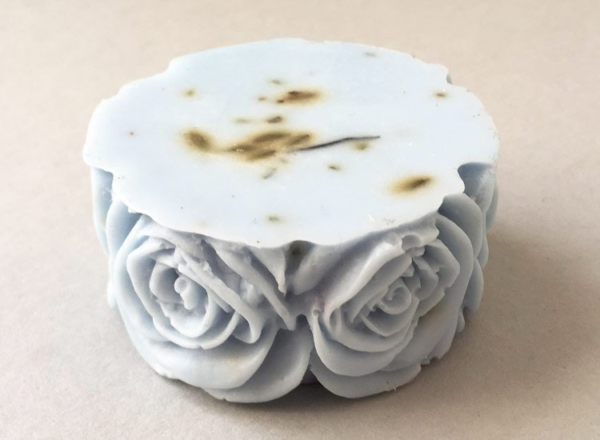 Lavender Soap Rose Design