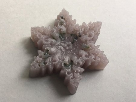 Lavender Soap Christmas Star Design