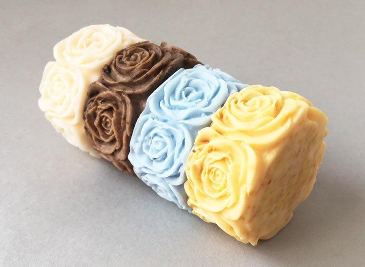 Organic Soap Set Rose Design