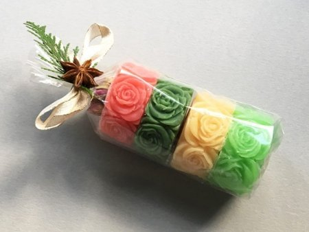 Rose Design Soap Gift Set