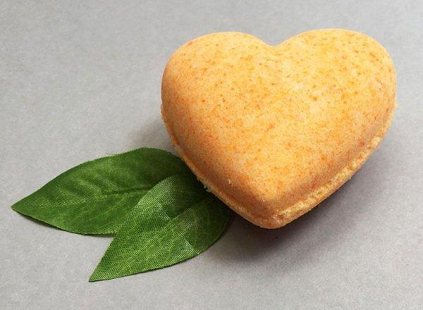 Sweet Orange Bath Bomb Heart