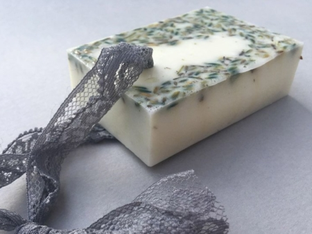 Provence Lavender Block Soap with Lace