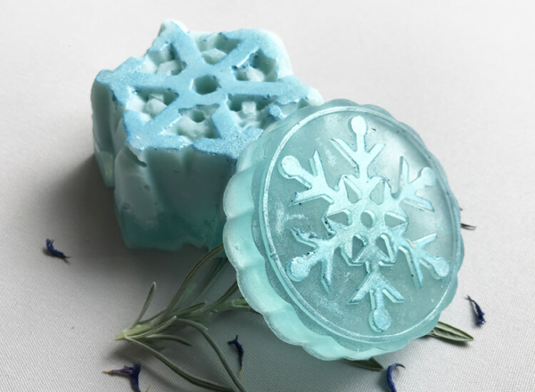 Winter Bergamot Soap - Snowflakes