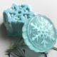 Winter Bergamot Soap - Snowflakes