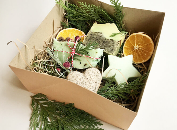 Winter Forest Christmas Soap Gift Set